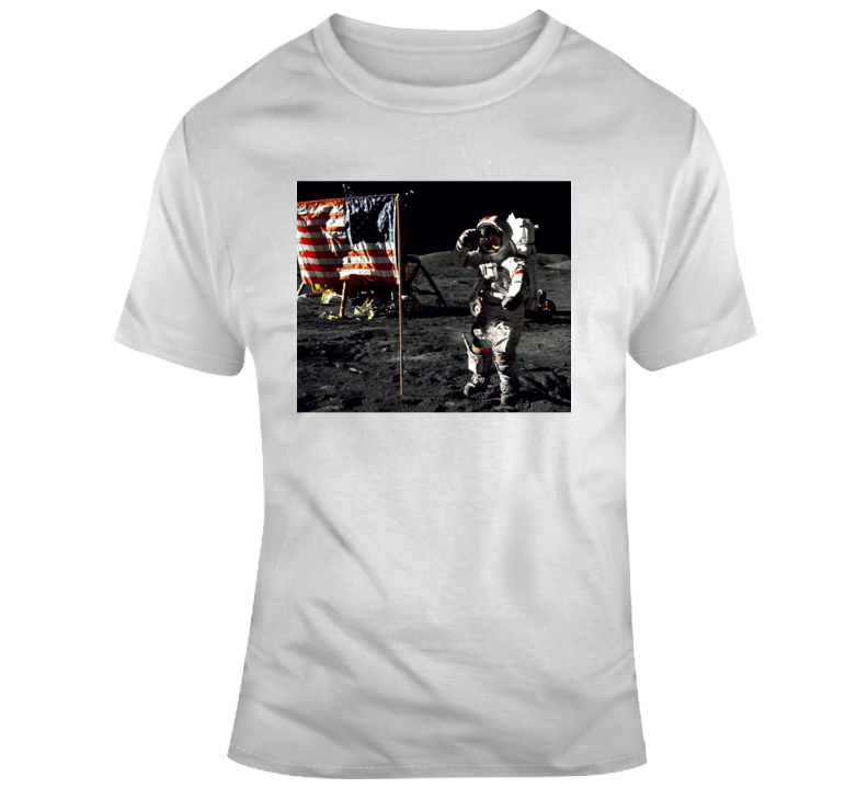 Neil Armstrong On The Moon T Shirt