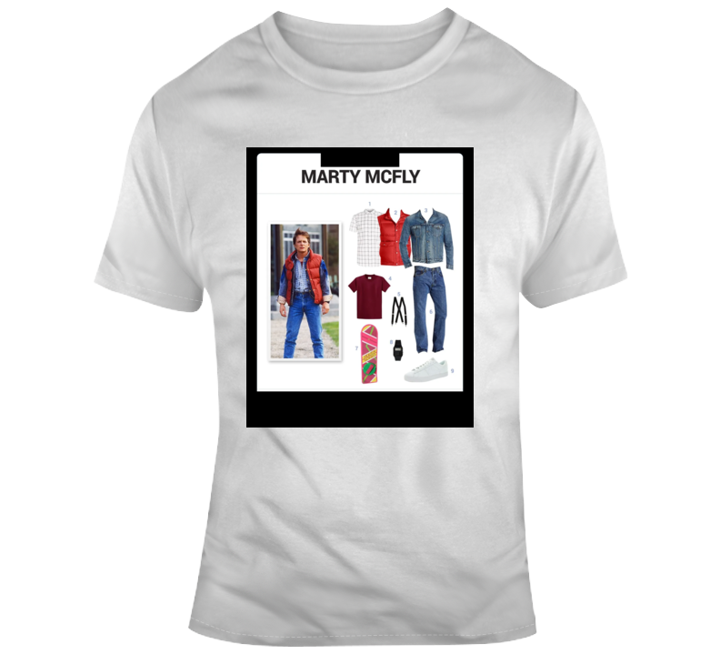 Marty Mcfly Starter Kit Halloween  Costume Parody T Shirt