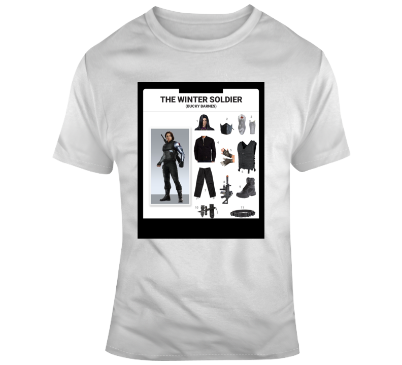 The Winter Soldier Starter Kit Halloween Outfit Costume Parody T Shirt