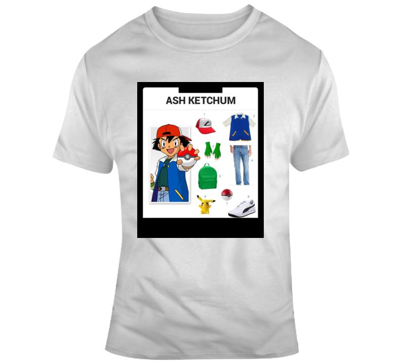 Ash Starter Kit Halloween  Costume Parody T Shirt