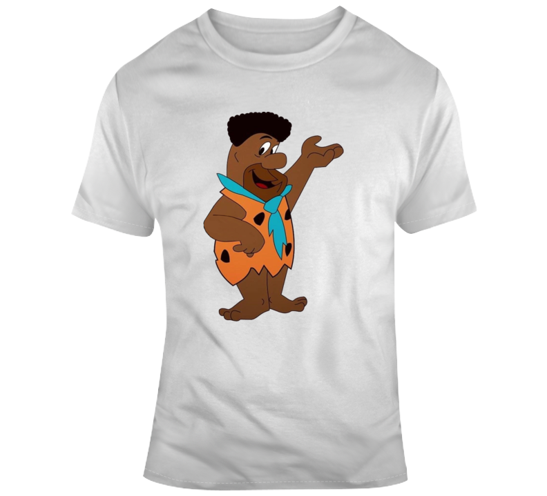 Cool Black Fred Flinstone Parody T Shirt