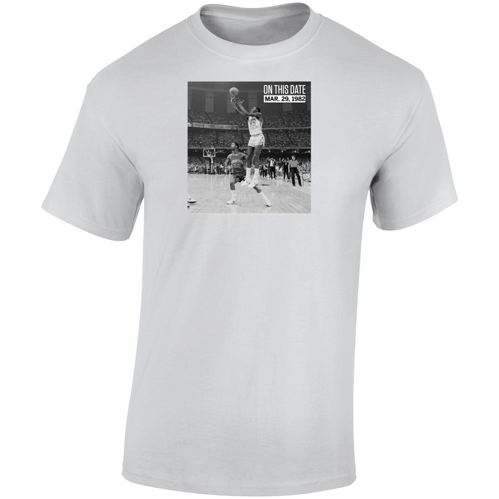 1982 National Championships Michael Jordan Unc Game Wubber The Last Dance T Shirt
