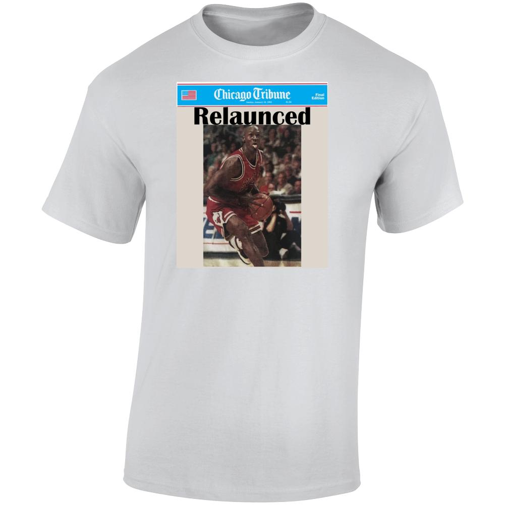 Michael Jordan Newspaper Chicago Tribune Relaunch T Shirt