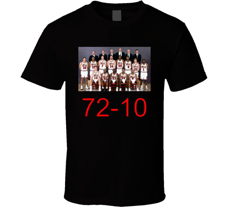Chicago Bulls 95-96 Championship Team Fan T Shirt