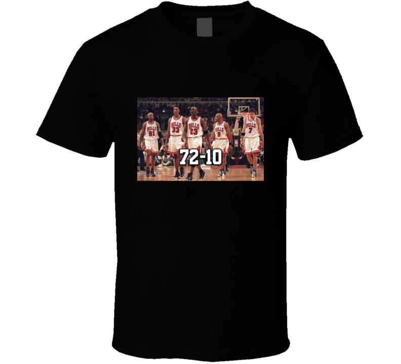 Chicago Bulls 95-96 Season Championship Team Fan T Shirt