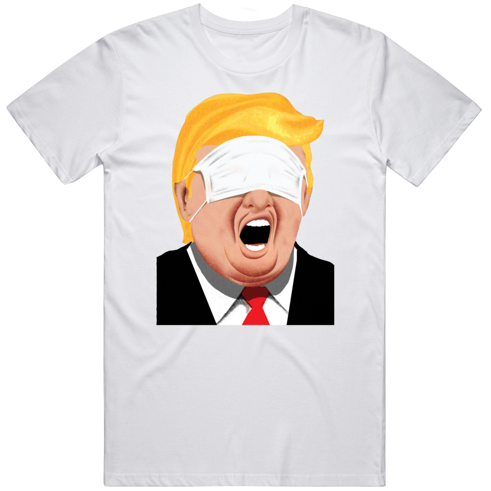 Trump Wearing Face Mask Parody T Shirt