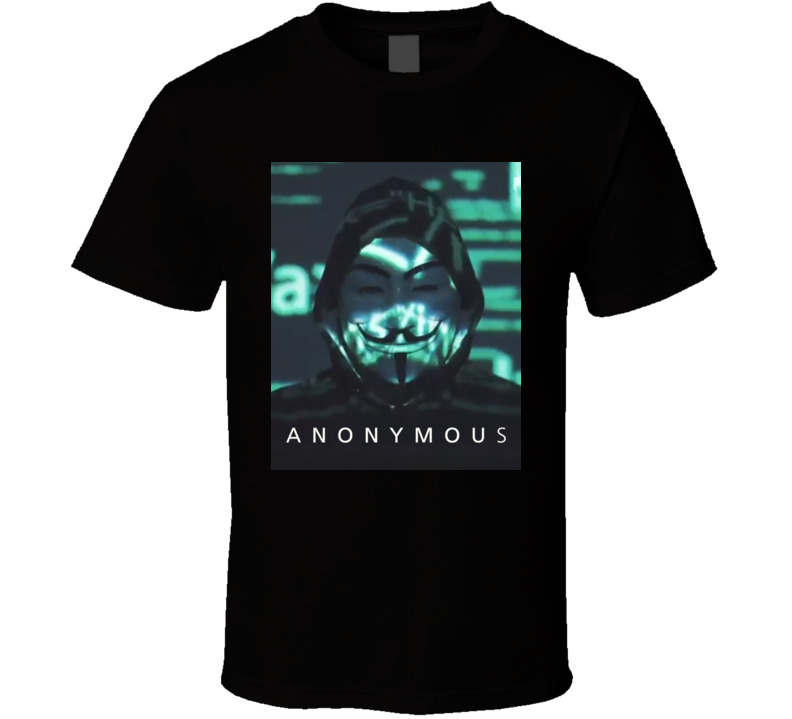 Hacker Anonymous Hacktivist T Shirt
