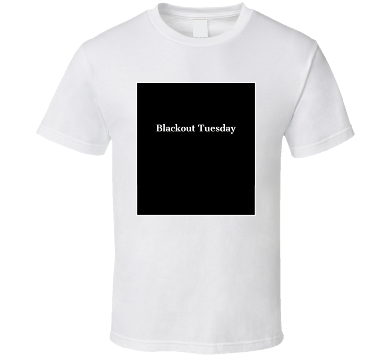 Blackout Tuesday Fan Support  T Shirt