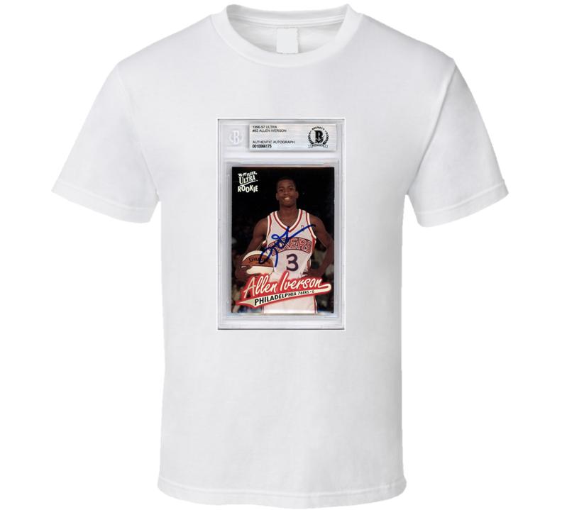 Allen Iverson Rookie Card Fan T Shirt