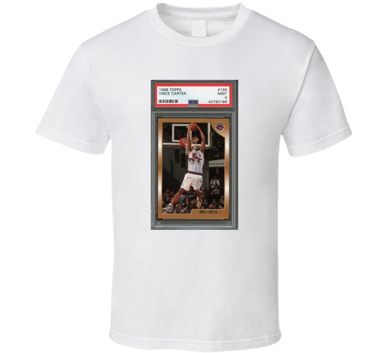 Vince Carter Toronto Raptors Rookie Card T Shirt