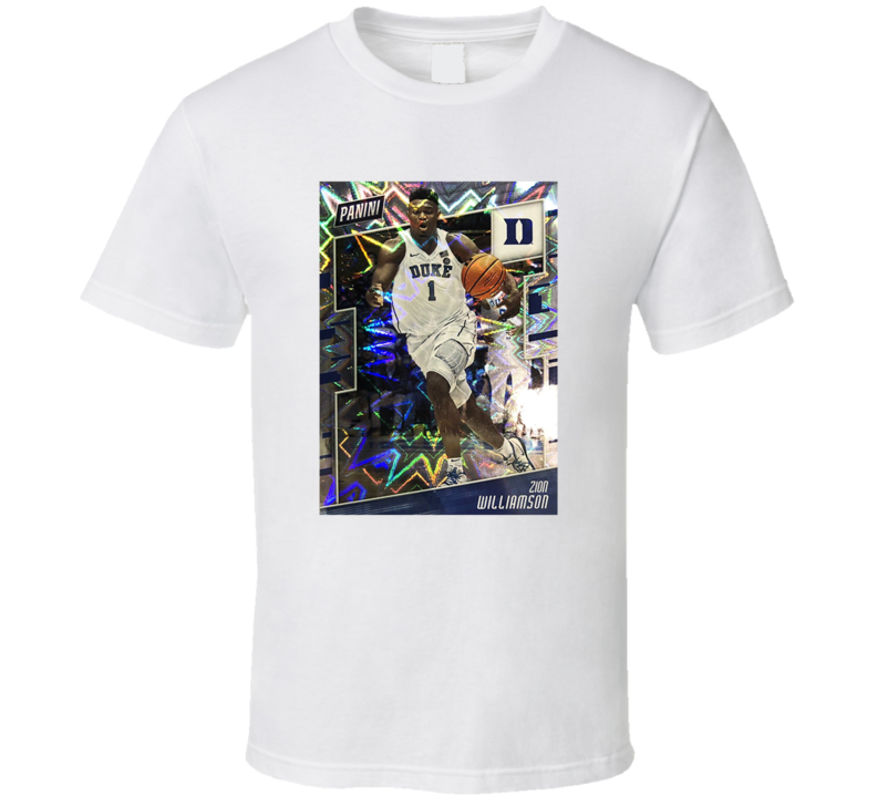 Zion Williamson Duke Rookie Card Fan T Shirt