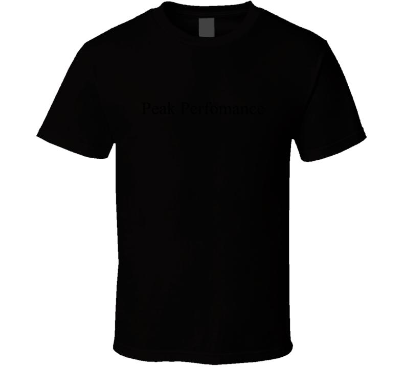 Peak Performance Title Fan T Shirt
