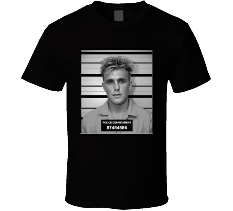 Jake Paul Mug Shot T Shirt