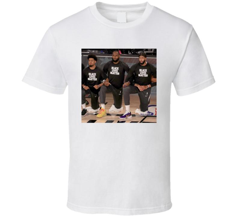 Lebron Lakers Anthony Davis Kneel Black Live Matters Fan T Shirt