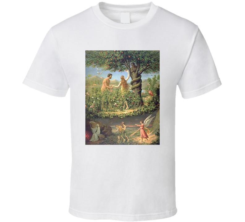 Garden Of Eden Adam And Eve Apple And Snake T Shirt