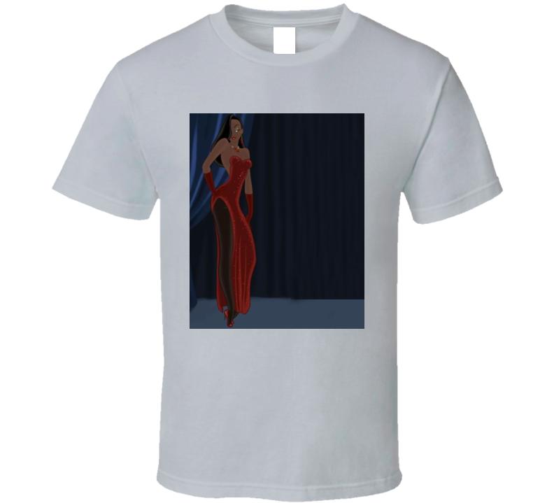 Black Jessica Rabbit Roger Rabbit Parody T Shirt