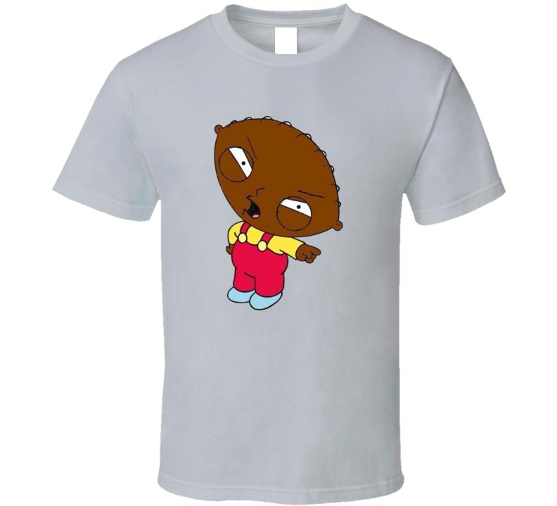 Black Stewie Parody Fan T Shirt