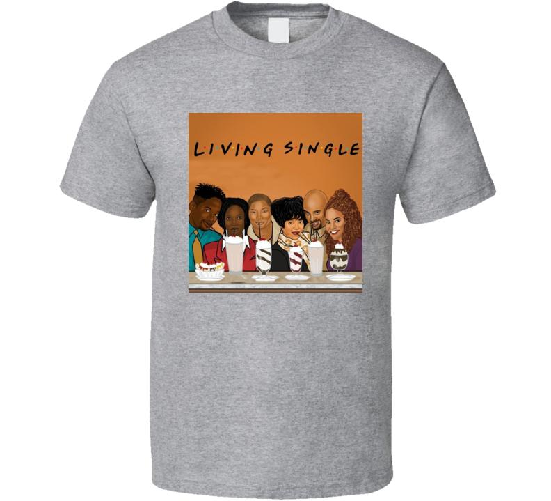 Living Single Cartoon T Shirt
