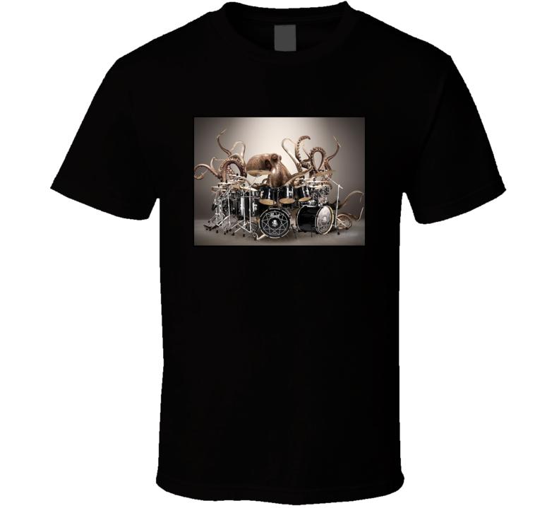 Octopus Playing Drums Parody T Shirt
