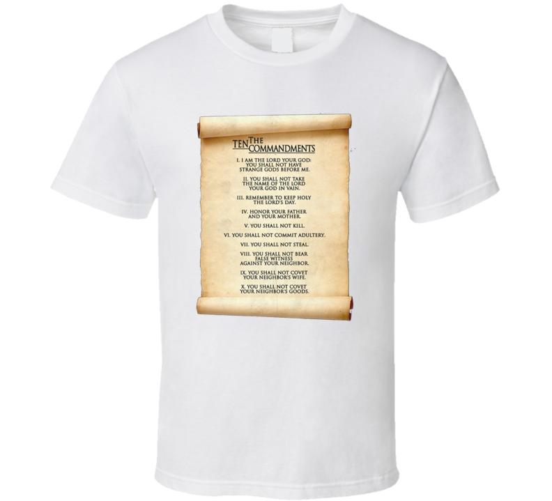 10 Commandments Scroll T Shirt
