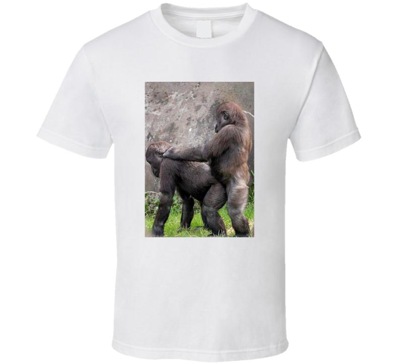 Gorilla Mating Art T Shirt