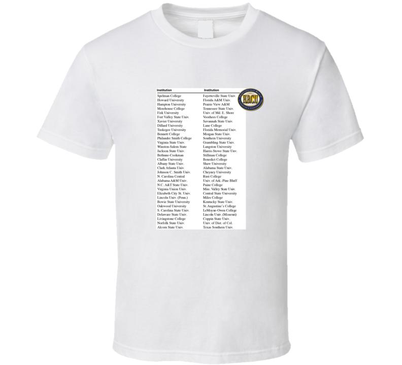 Hbcu List Of Schools T Shirt