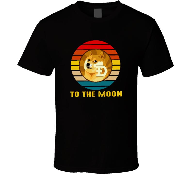 Dogecoin To The Moon Dodgecoin Mascot Shiba Inu T Shirt