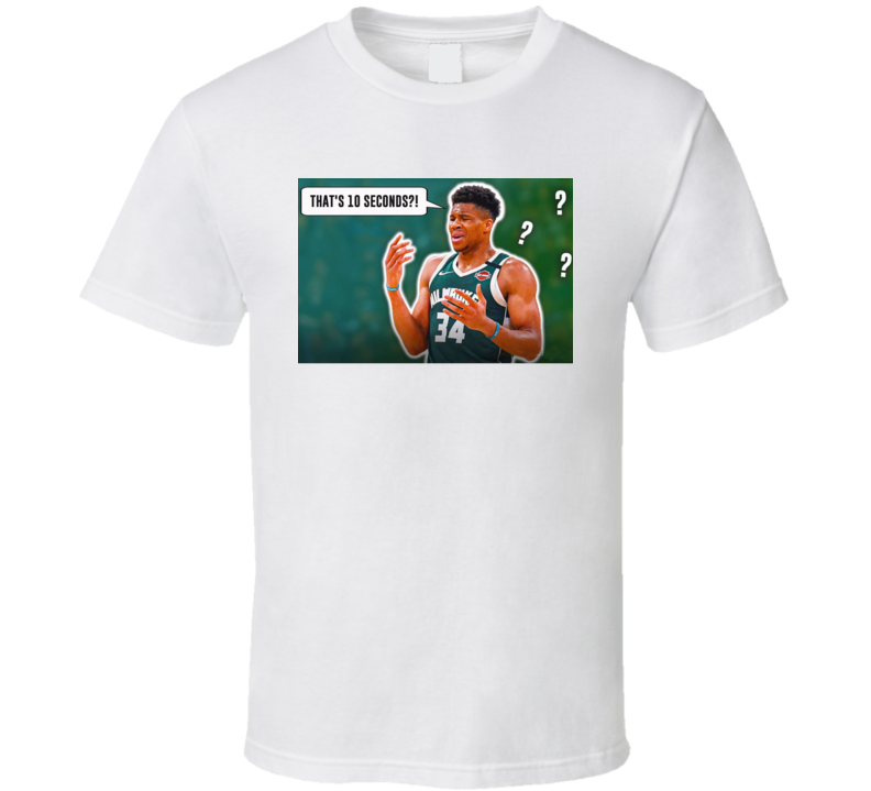 Giannis Free Throw Violation10 Second Parody T Shirt