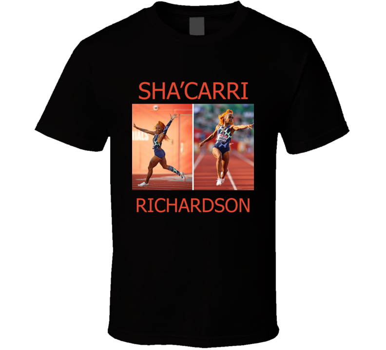 Sha'carri Richardson Pointing Finger Champion T Shirt