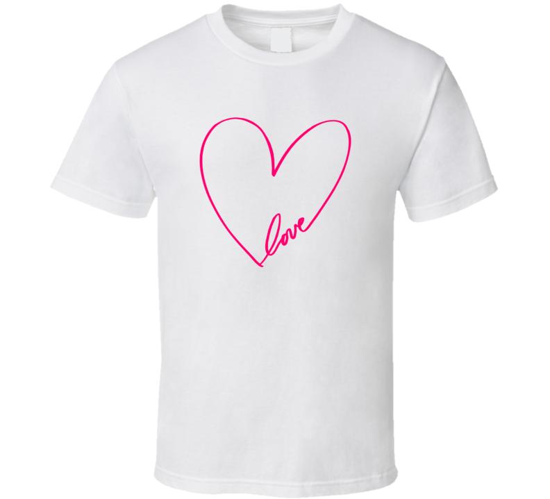 Elton John Aids Foundation Ellen Heart T Shirt