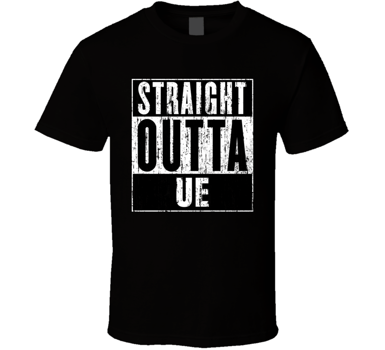 Straight Outta UE Unions Cool Movie Parody T Shirt