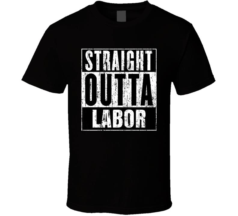 Straight Outta Labor Unions Cool Movie Parody T Shirt