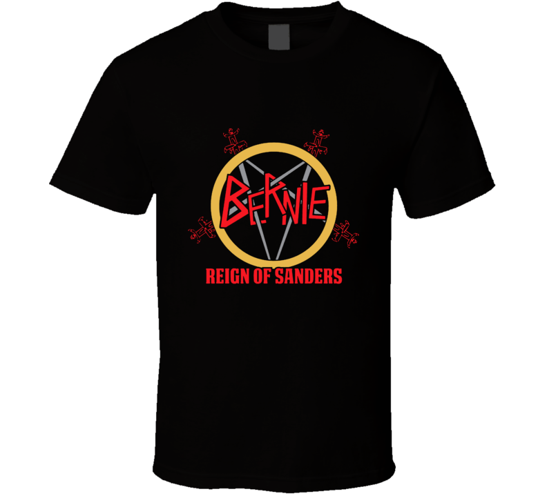 Bernie Sanders Slayer Parody Heavy Metal T Shirt