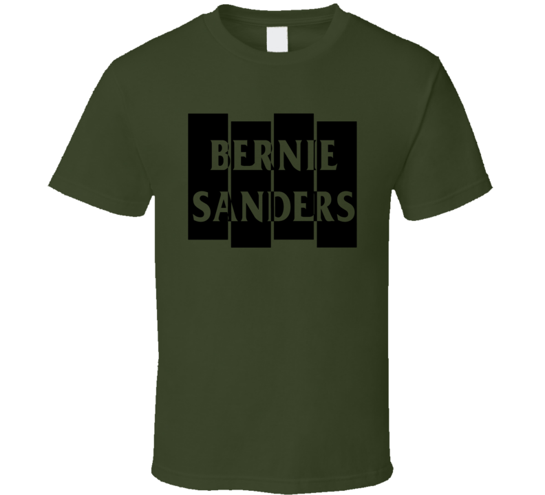 Black Flag Bernie Sanders Punk Political T Shirt