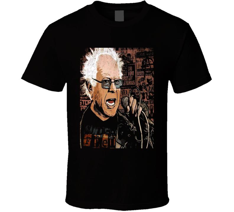 Punk Rock Bernie Sanders Revolution Political T Shirt
