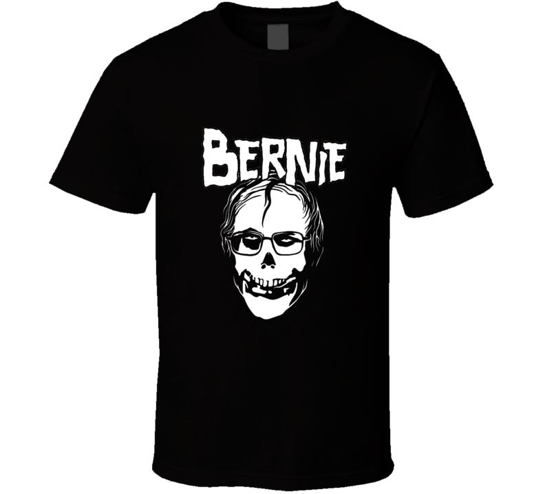Bernie Sanders Misfits Parody Punk Rock Fan T Shirt