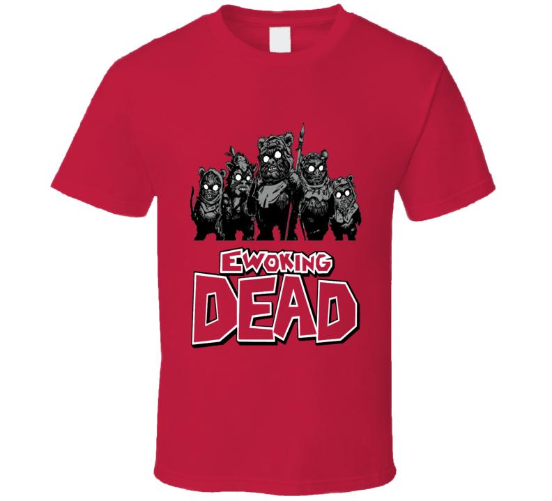The Walking Dead Ewok Star Wars Parody Fun Fan T Shirt