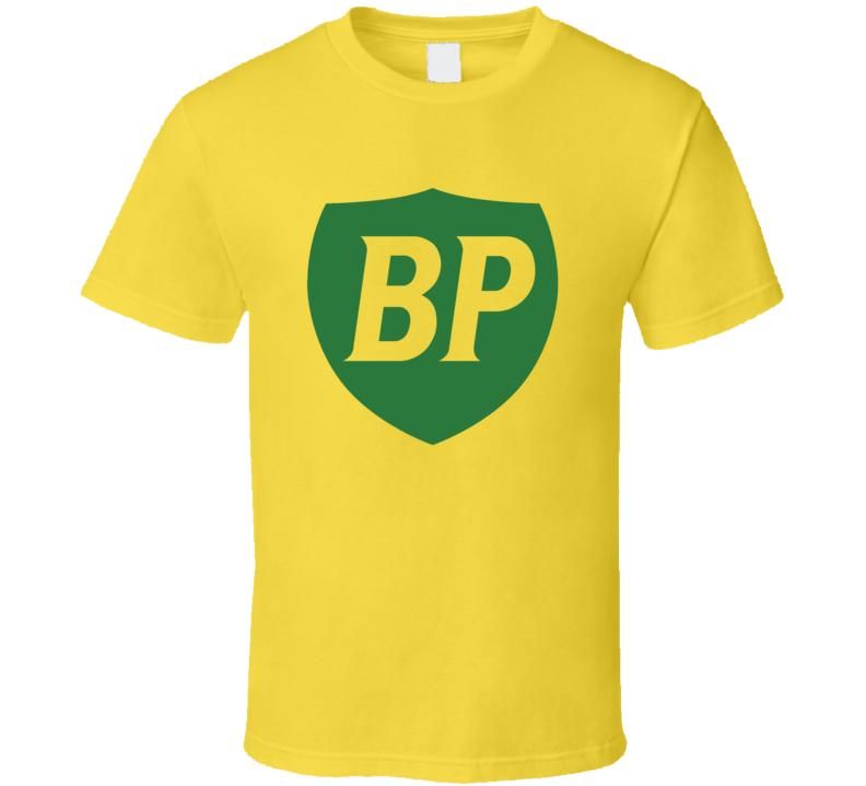 BP Brands Fuel Retro Classic Logo Fan Yellow T Shirt