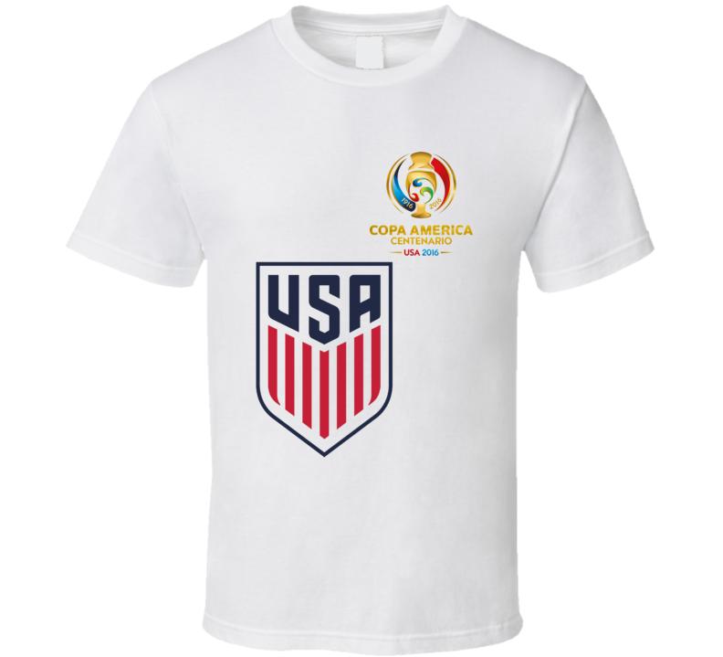 Copa America 2016 USA National Football Team Sport Fan White T Shirt