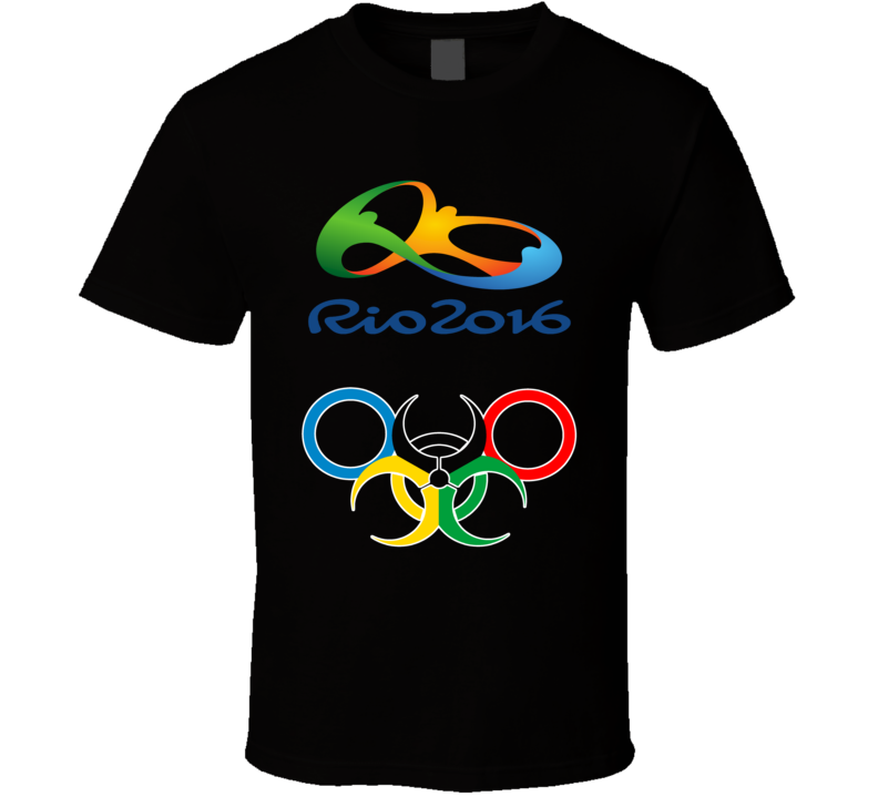 Rio 2016 Olympic Brazil Biochemical Fan Black T Shirt