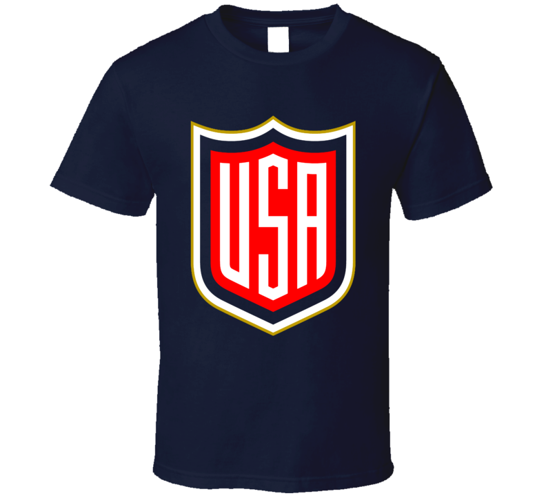 Team USA Hockey WCOH Logo Fan Navy Blue T Shirt