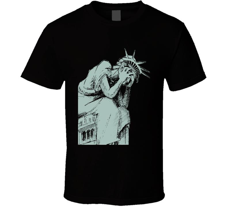 Statue of Liberty Anti Donald Trump POTUS fun Black T Shirt