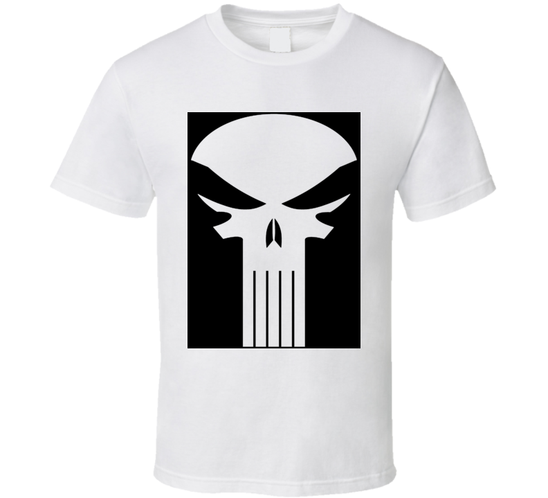 Punisher Dirty Laundry Fan Site Logo White T Shirt