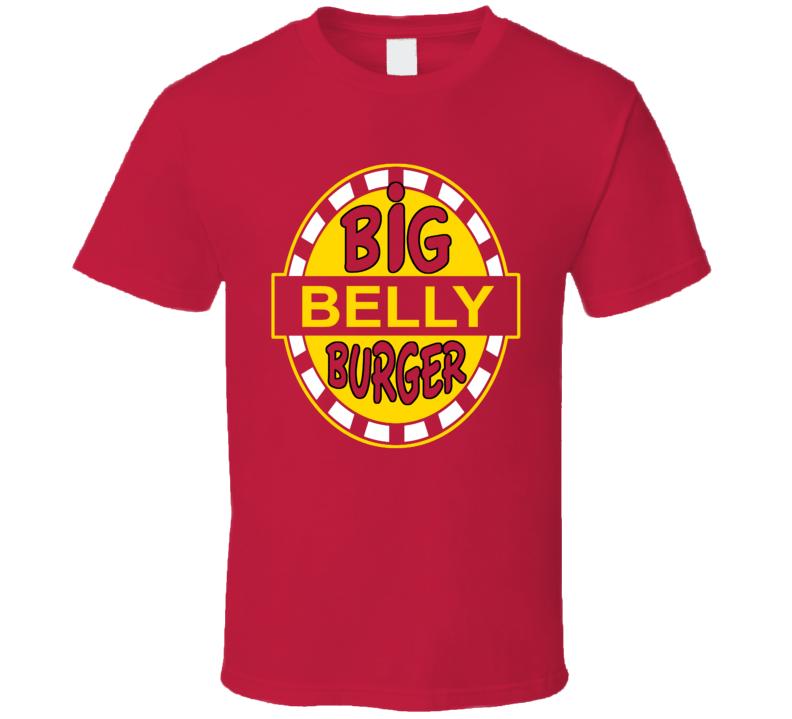 The Flash Big Belly Burger Star Labs Comic TV Show Fun Fan Red T Shirt