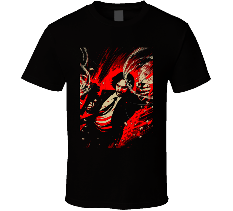 John Wick Chapter 2 Action Movie Poster Fun Fan Black T Shirt