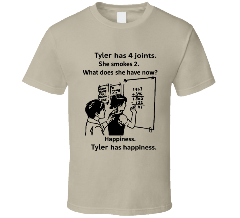 Tyler Has Happiness Cool Weed Math T Shirt