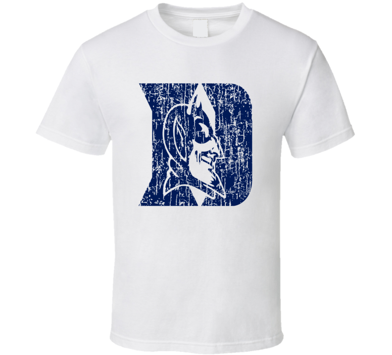 Duke Basketball Blue Devils ACC Distressed Fun Fan T Shirt