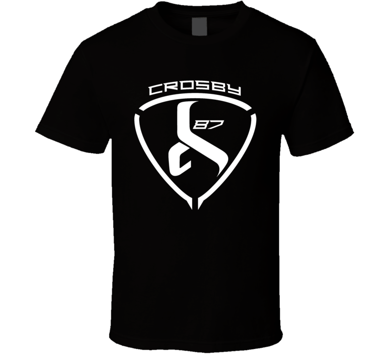 Sidney Crosby Logo Hockey Fun Fan Black T Shirt