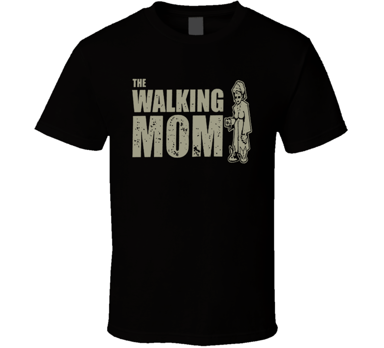 The Walking Dead the Walking Mom Fun Fan Black T Shirt