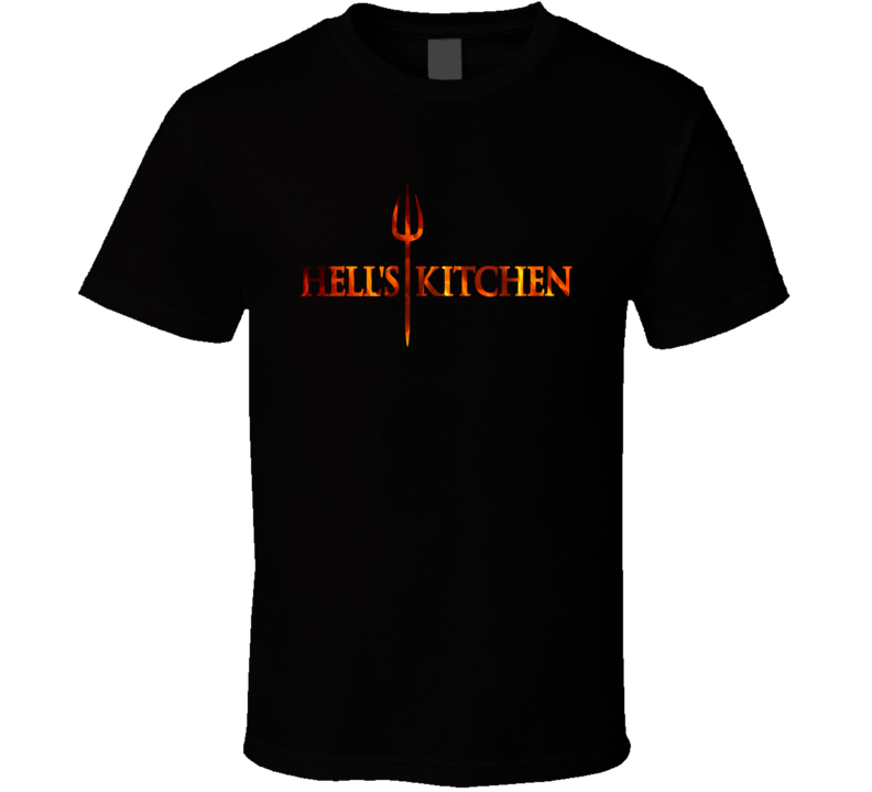 Hell`s Kitchen Gordon Ramsay American Reality TV Show Cooking Competition Fan Black T Shirt